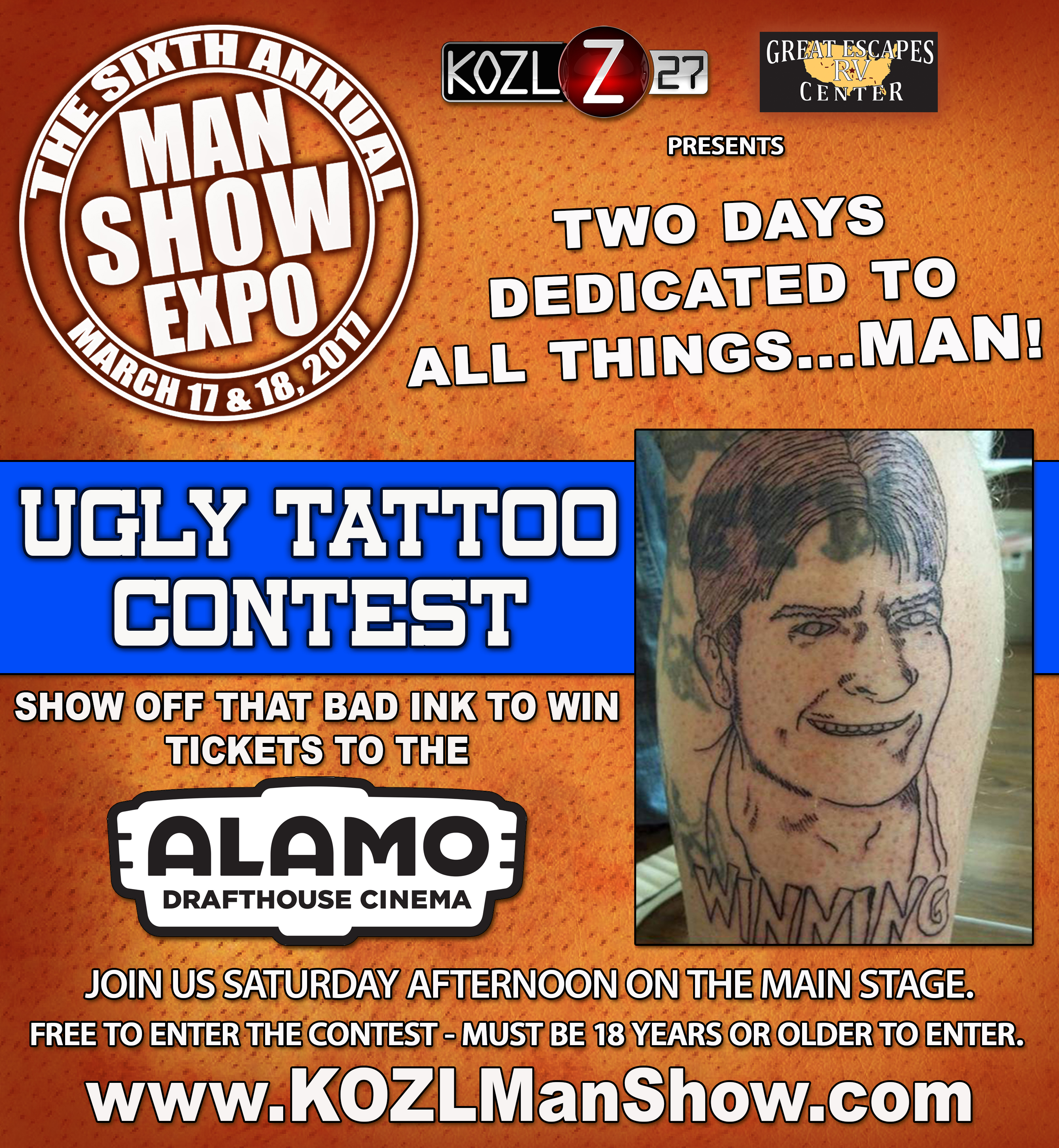 2017 ugly tattoo contest MAN SHOW