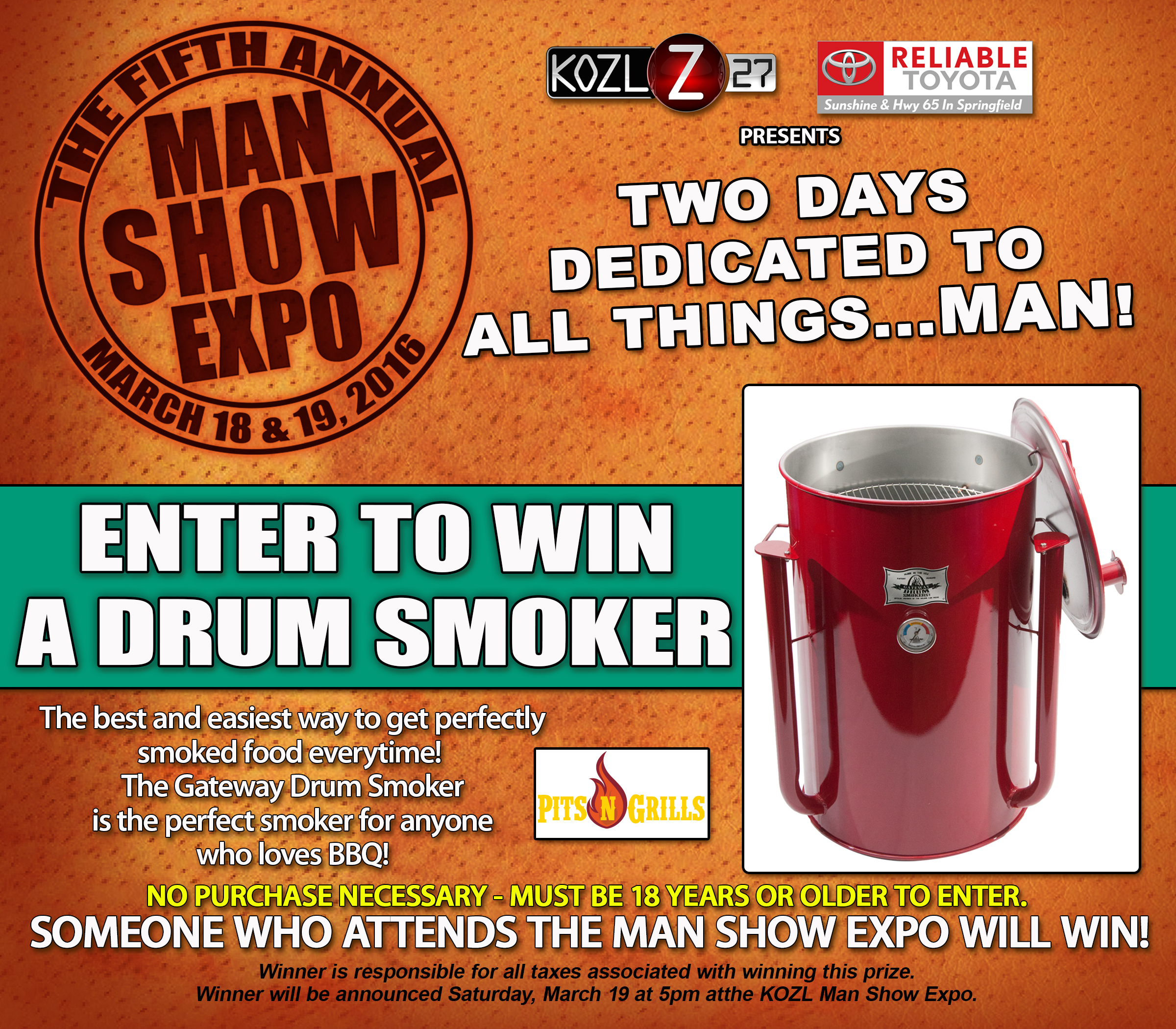 drum smoker giveaway