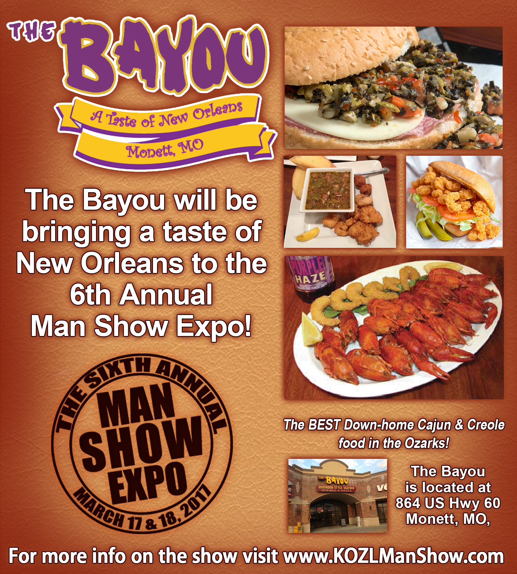 BAYOU at the Man Show 2017